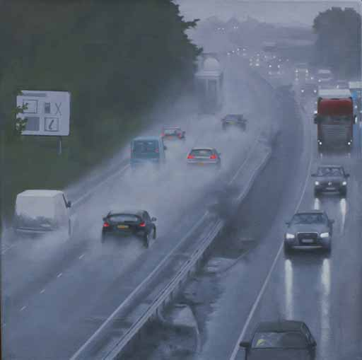 A12 in the rain 1 - the Road to Dedham Vale
